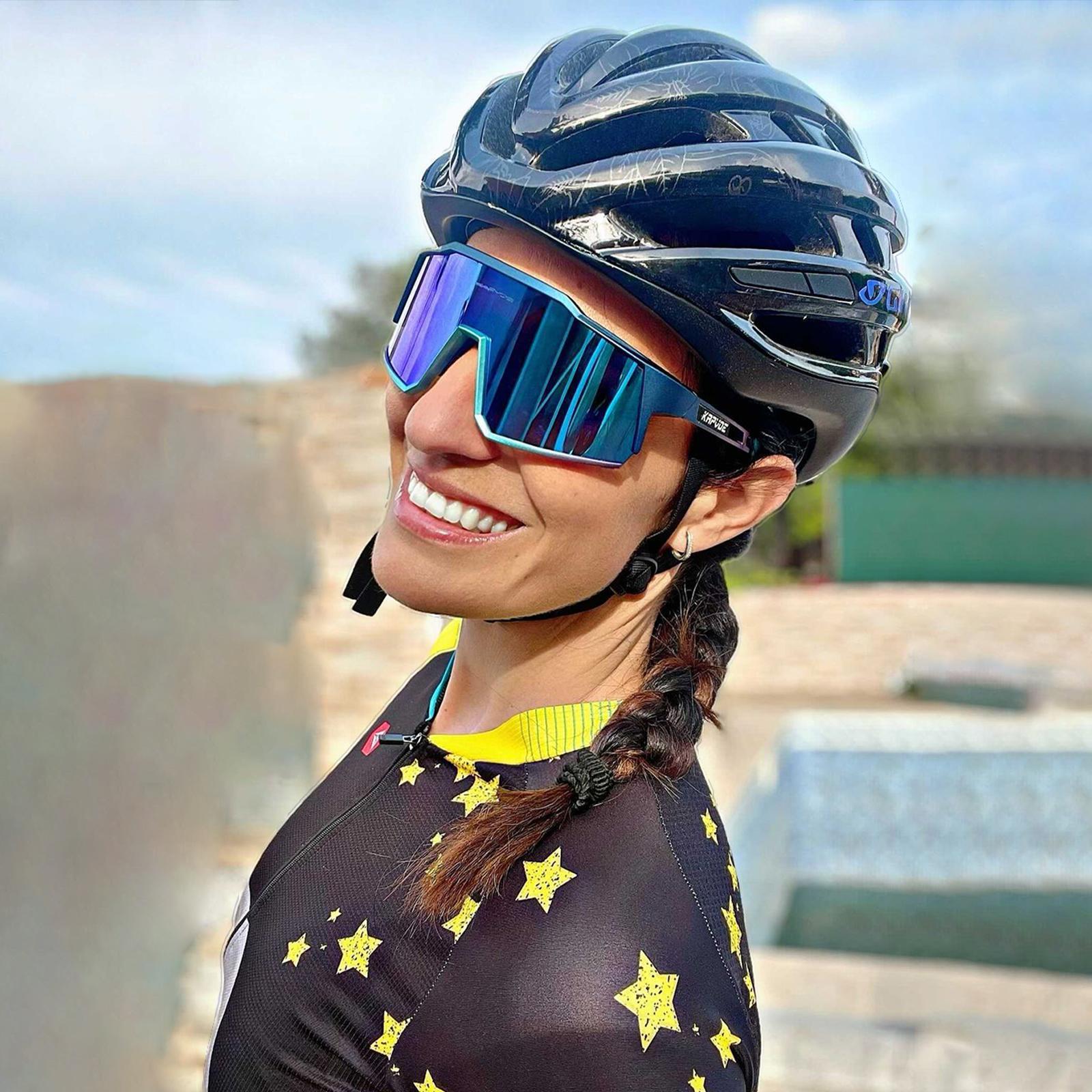 Kapvoe 사이클링 안경 도로 사이클링 고글 야외 UV400 사이클 선글라스 스포츠 보호 MTB 도로 산악 자전거 안경