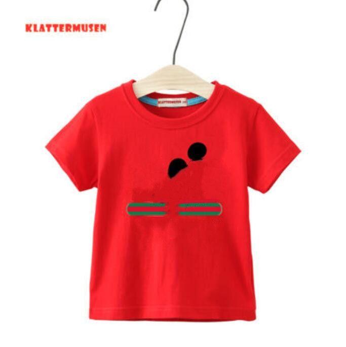 الصيف قصيرة الأكمام تي شيرت ثنائية قطعة مصمم صبي ملابس فتاة جولة الرقبة الأعلى السراويل العلامة التجارية الكرتون إلكتروني الطباعة الرياضية 2-7 سنوات
