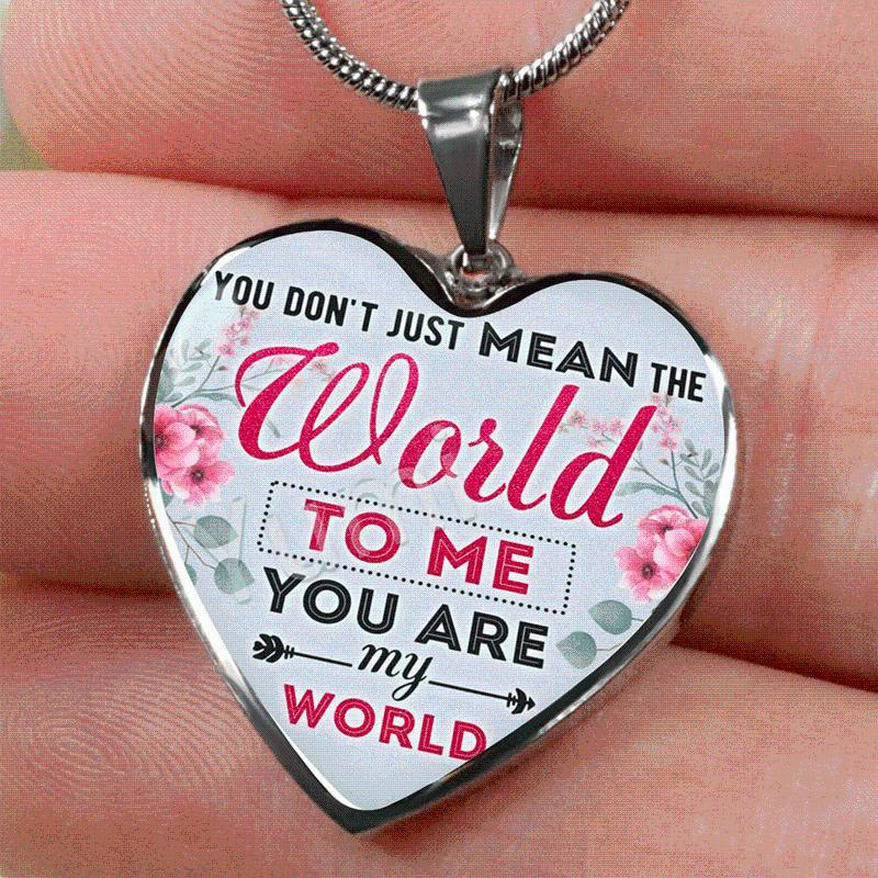 Vous êtes mon coeur mondial pendentif collier accessoires d'inspiration pour femmes amant famille cadeau bijoux Colliers