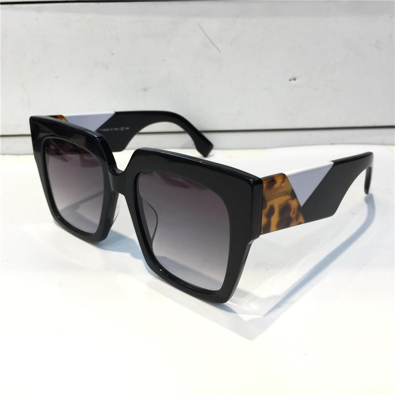 Erkekler ve Kadınlar için Güneş Gözlüğü Yaz Tarzı 0263 Anti-Ultraviyole Retro Plaka Kare Tam Çerçeve Moda Gözlükler Rastgele Kutu