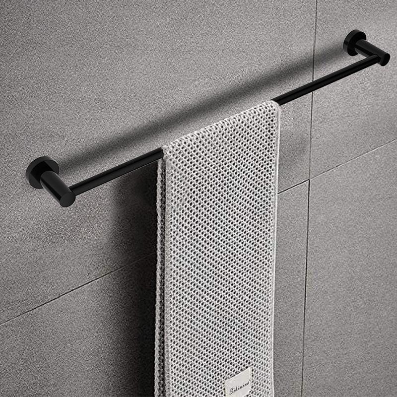 Single towel bar 60cm rack/rail wall-mounted shelf round style zinc+brass/copper Bathroom accessories hardware wholesale
