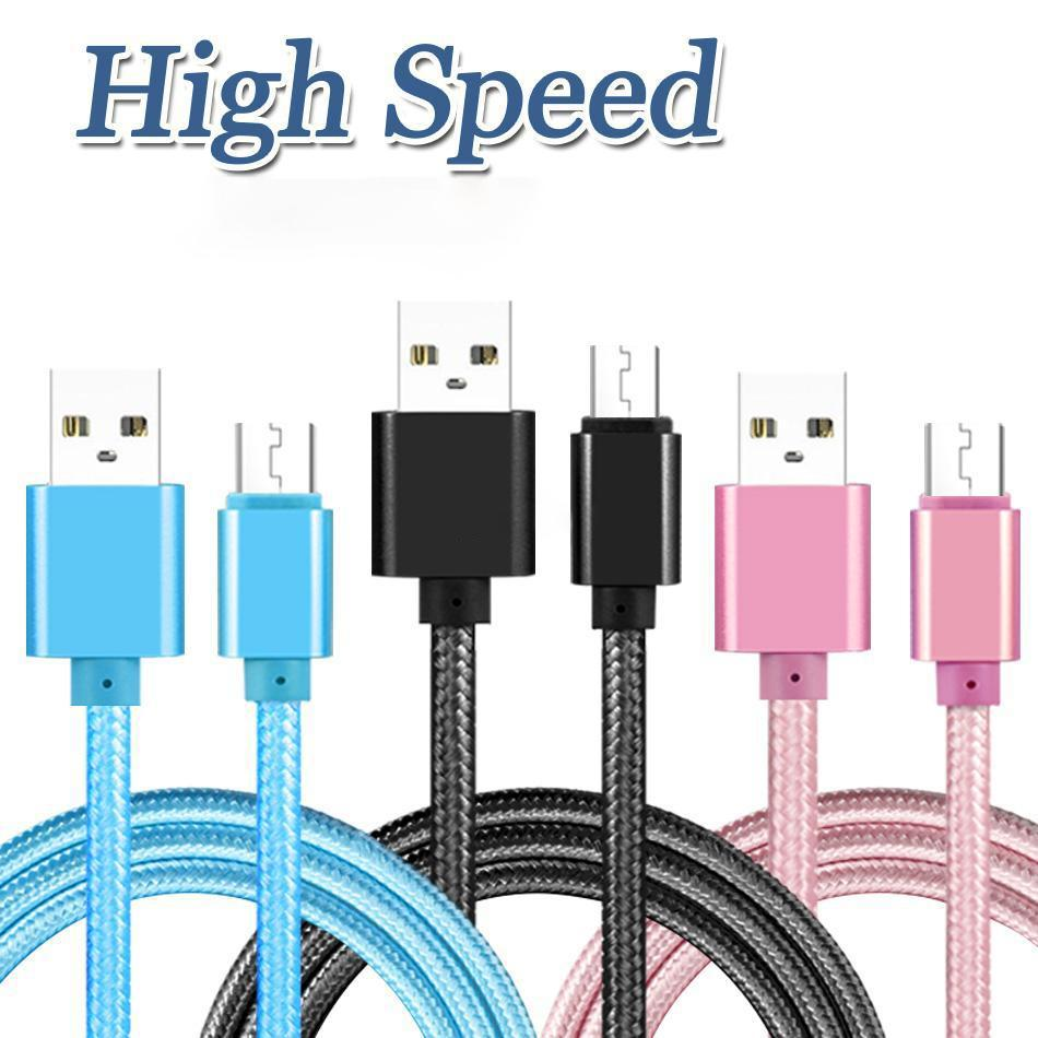 USB C Telefon Kablosu Örgülü Naylon Alaşım Metal Kabloları Samsung Huawei Xiaomi Cep Telefonu Adaptörü Için 1 M 2 M 3 M
