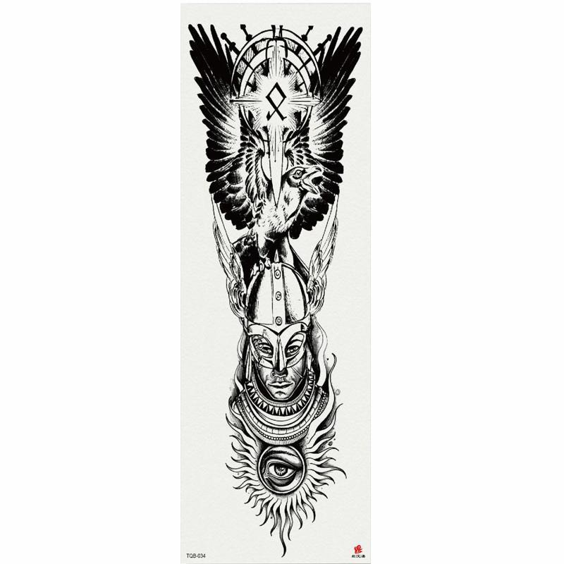 1 pièce Stickers de tatouage temporaire sans visage avec bras d'arbre artificielle grosse manches grande autocollant de tatouage