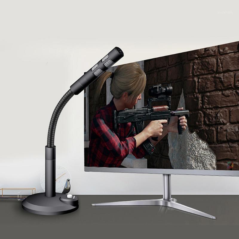 3.5mm / USB Condensador de Condensador com fio para computador PC Desktop Portátil Notebook Som Gravação de Jogo Podcasting Microfones1