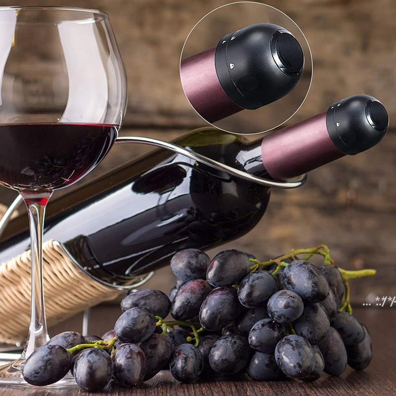Wiederverwendbares Vakuum-Rotwein-Flaschen-Kappe-Stopper-Silikon-versiegelter Champagner-Wein-Flaschen-Stopfen-Vakuum-Halter Frische Stecker-Werkzeuge FWF5805