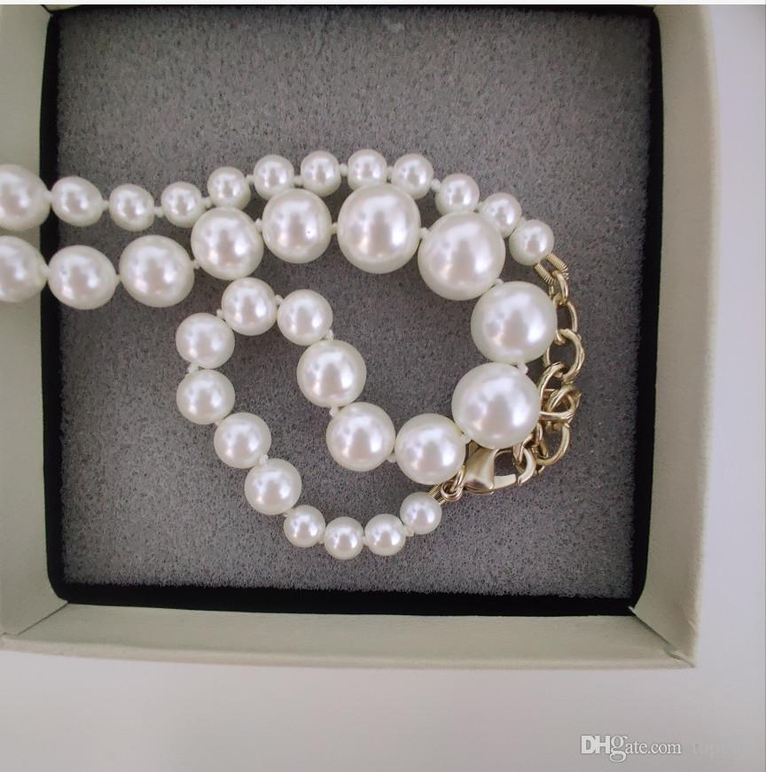 Nuovi prodotti Collana a catena Nuovo prodotto Elegante collana perla collana di moda selvaggio collana gioielli squisita fornitura di gioielli squisita