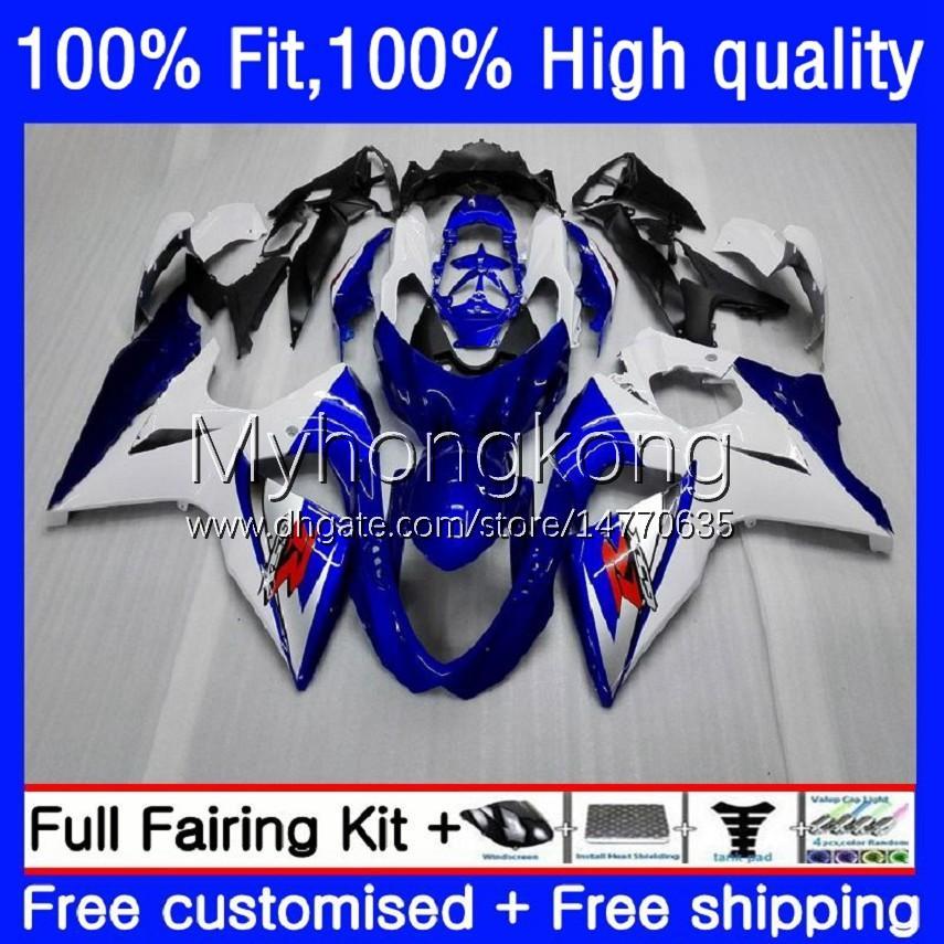 Fairings de injeção para Suzuki K9 GSXR 1000 CC 1000CC 09-16 28NO.0 GSX-R1000 GSXR1000 09 10 11 12 13 14 15 GSXR-1000 2009 2011 2012 2015 2015 2016 OEM Body Blue White