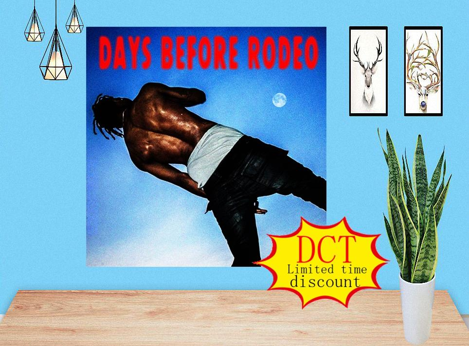 Días antes de Rodeo Travis Scott Album Poster Cover Silk Art Lámina