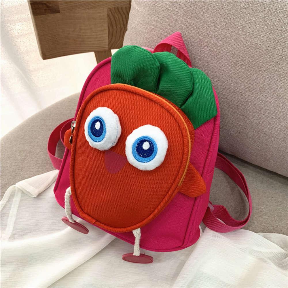 сумка детская школьная сумка холст сумка мальчики и девушки 2021 весна новая редька форма милый рюкзак
