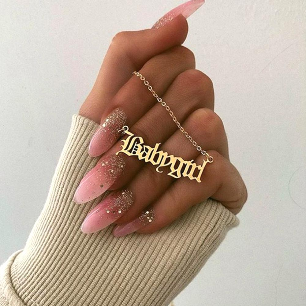 15pcs Мода Творческий Babygirl Английский алфавит кулон ожерелья День рождения День Святого Валентина подарок для Girlfriend ювелирных изделий AccessoriesT-85