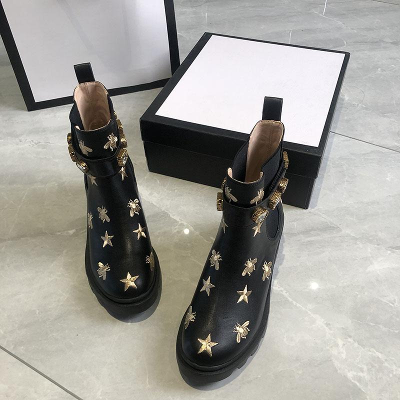 Womens Shoes Boots Botas de Luxo Bota de Inverno Botão de Inverno Mulher Botinhas Calcon Calçados Cabelo Cavaleiro Trabalho Segurança Motocicleta Motocicleta Rain Moda Neve Rápida Qualidade