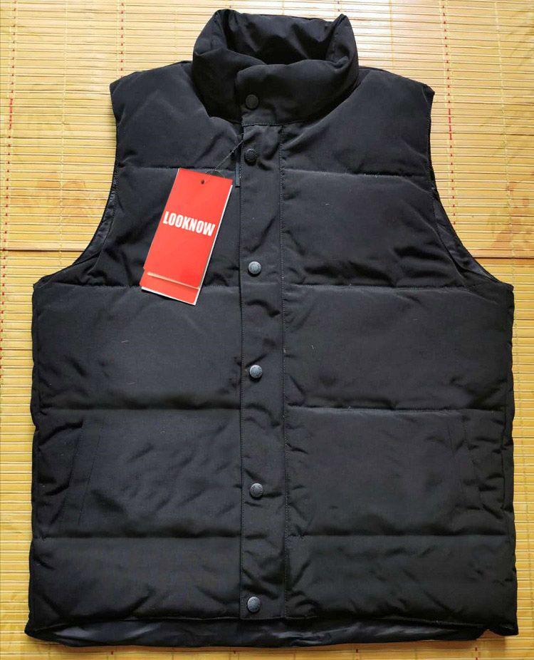Looknow Canada / USA Style Marque Veste d'hiver Mens Style Gilet Goose Down Down Gilet Down Veste Down Veste Avancé Tissu imperméable