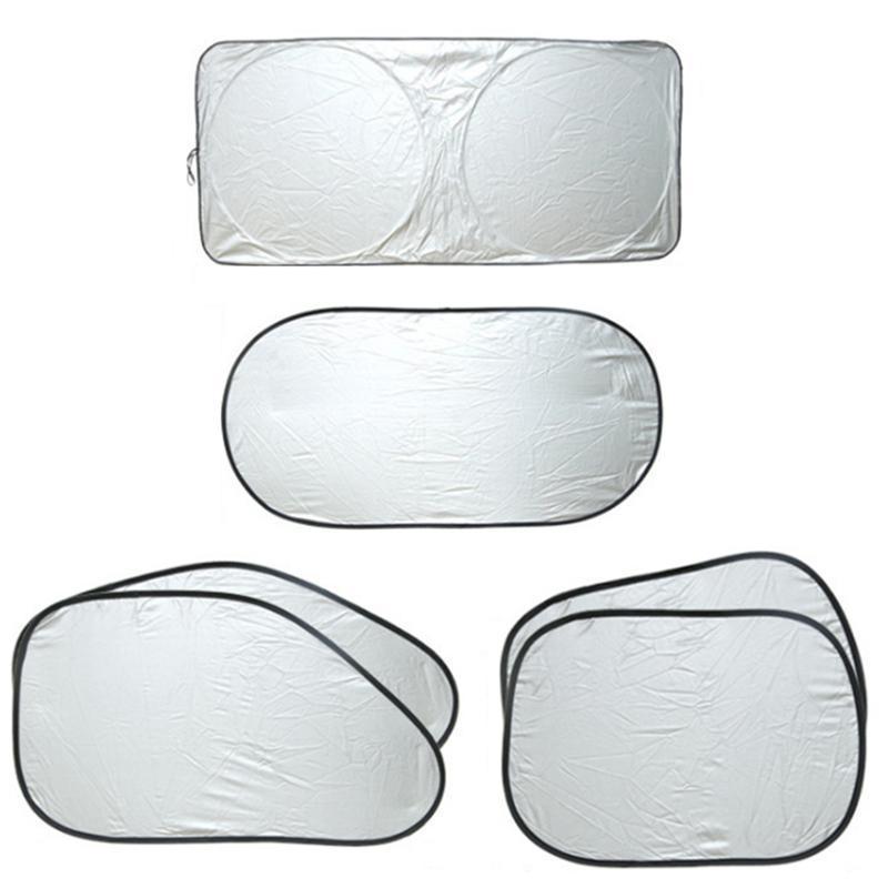 6шт / набор автомобильных лобовых стеклом Союза крышка УФ-защита Защита Окна Визуализация Sunshade Серебряная фольга против отражателя Солнцезащитный оттенок