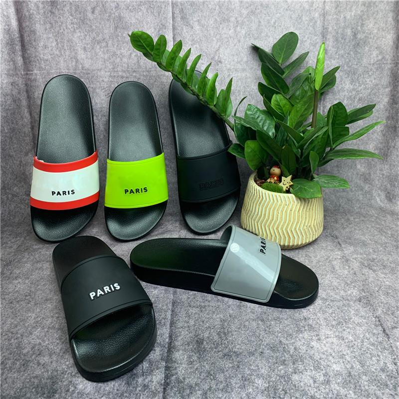 파리 럭셔리 디자이너 샌들 슬리퍼 슬라이드 거품 러너 러너 맨스 러너 여성 여름 해변 슬리퍼 숙녀 플립 플롭 로퍼 블랙 야외 홈 Chaussures 신발 상자