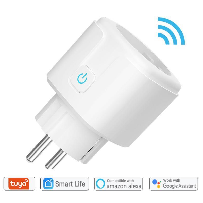 스마트 파워 플러그 WiFi 플러그 소켓 AU / EU / 영국 Tuya Life App 작업 Alexa Google Home Assistant Voice Control 모니터 타이밍