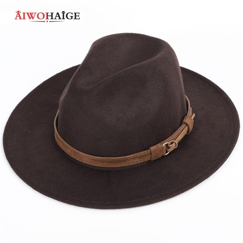 Fedoras dos homens do inverno do outono fedoras mulheres chapéu senhoras sombrero jazz masculino jogador ao ar livre vintage tamanho grande tamanho 210608
