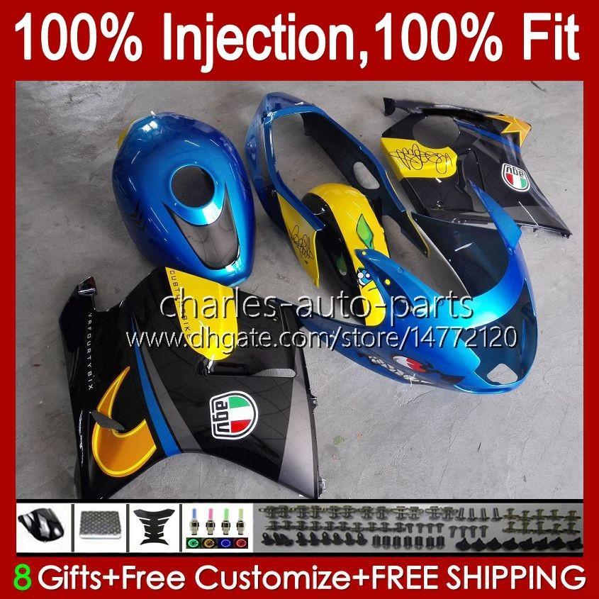 Molde de inyección para Honda Blackbird CBR 1100 1100XX CBR1100 XX CC 96-07 CUERPO 26NO.5 CBR1100XX 96 97 98 98 99 00 01 1100 CC 2002 2003 2004 2005 2006 2007 Carreying Shark Blue