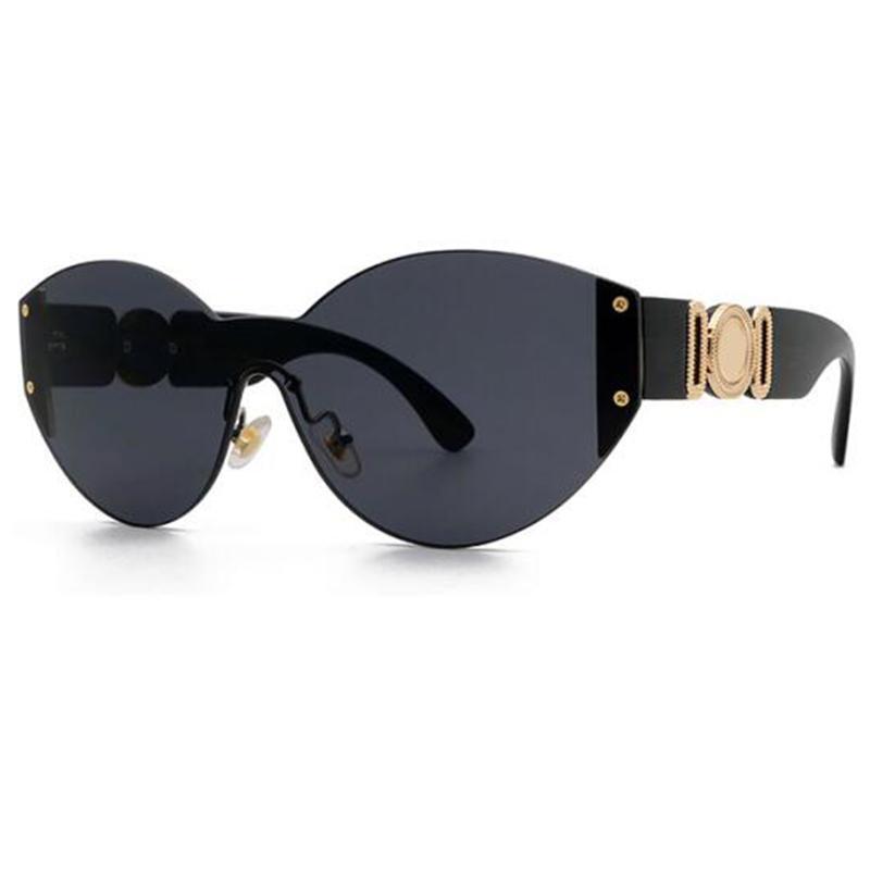 Fashion One-Piece Орисоздание Беззаконные очки Женщины 2021 Дизайнерский тенденционный Градиент Солнцезащитные Очки Мужчины Безрамные Винтажные оттенки