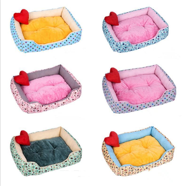 고양이 침대 가구 부드러운 북극 양털 애완 동물 매트 겨울 따뜻한 둥지 작은 강아지 강아지 개집 침대 소파 하우스 제품 GP181212-68
