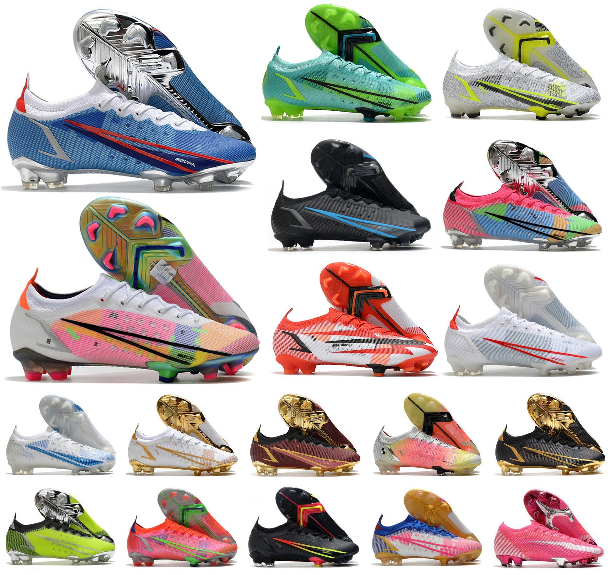2021 Erkekler VA Pors XIV 14 360 Elite Fg Dragonfly Futbol Ayakkabı CR7 Ronaldo Impulse Paketi MDS 004 Düşük Kadın Çocuklar Futbol Çizmeler Cleats Boyutu 39-45