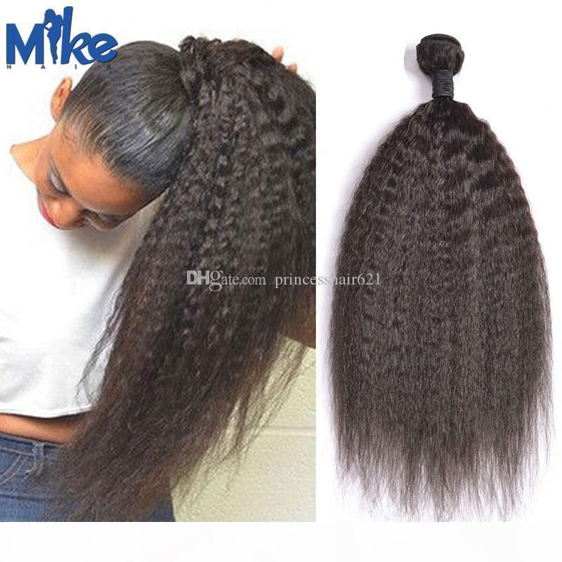 MIKEHAIR unverarbeitete brasilianische Haare webt 1 Stück peruanisches indisches mongolisches kambodschianisches kinkiges gerades Haar Schuss billige Haarverlängerungen FEFTS