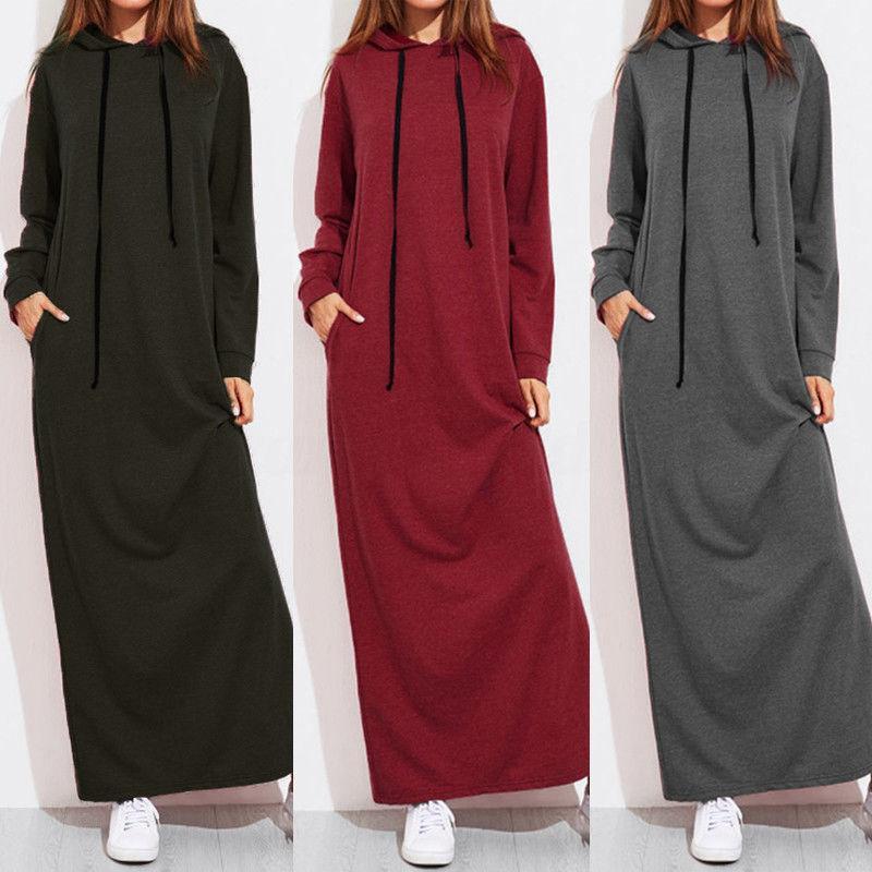 Robe longue à capuche à capuche à manches 350g 1