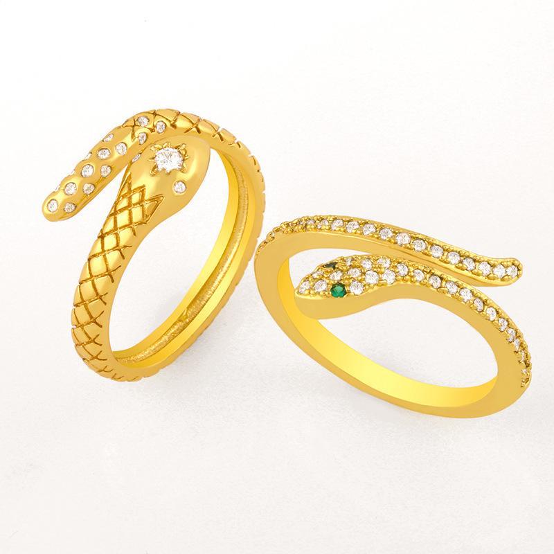 다이아몬드 뱀 여성 성격 조정 가능한 반지 Rij77