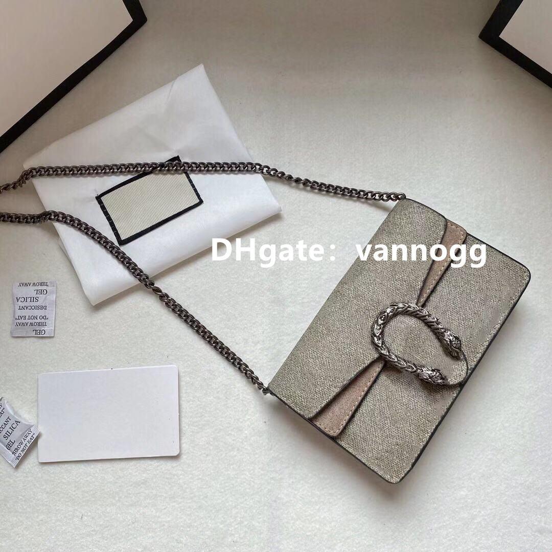 المصممين Luxurys Dionysus قماش سوبر البسيطة الصليب حقيبة الجسم 476432 المرأة أزياء خمر مفتاح سلسلة المحفظة الكلاسيكية الجلد المدبوغ بطانة أكياس مساء صغيرة مع صندوق 16.5 سنتيمتر، 19 سم