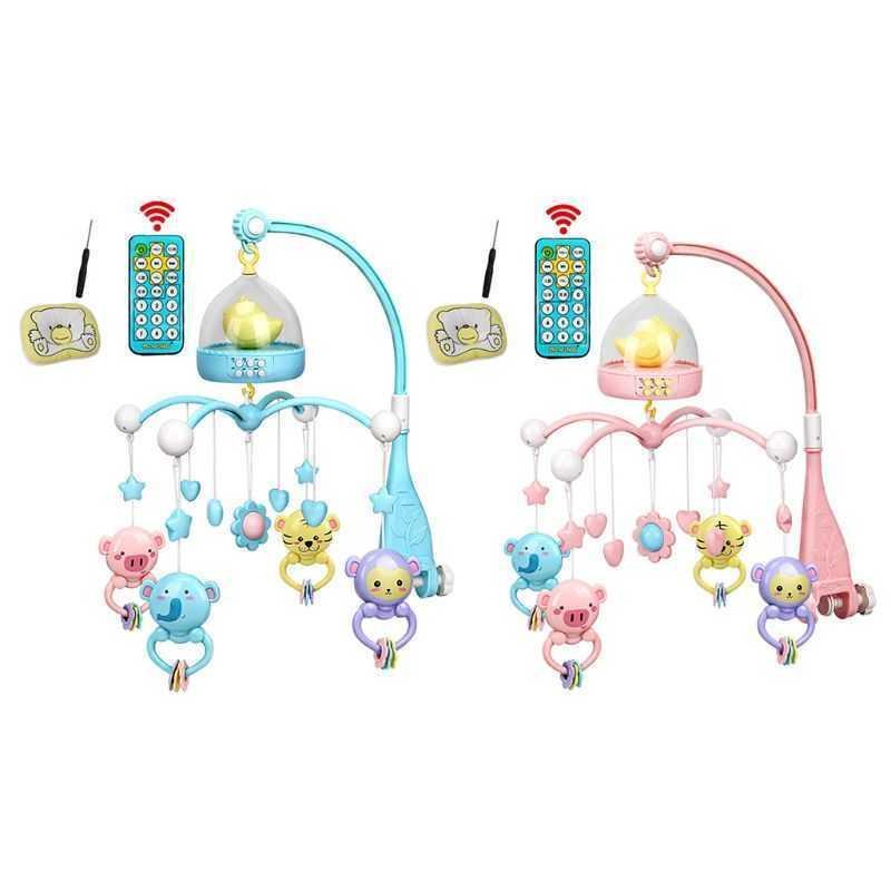 Baby Musical Cribel Rassel Kinderbett Mobile Sterne Träume Licht Flash Nusery Lullaby Spielzeug J2HD