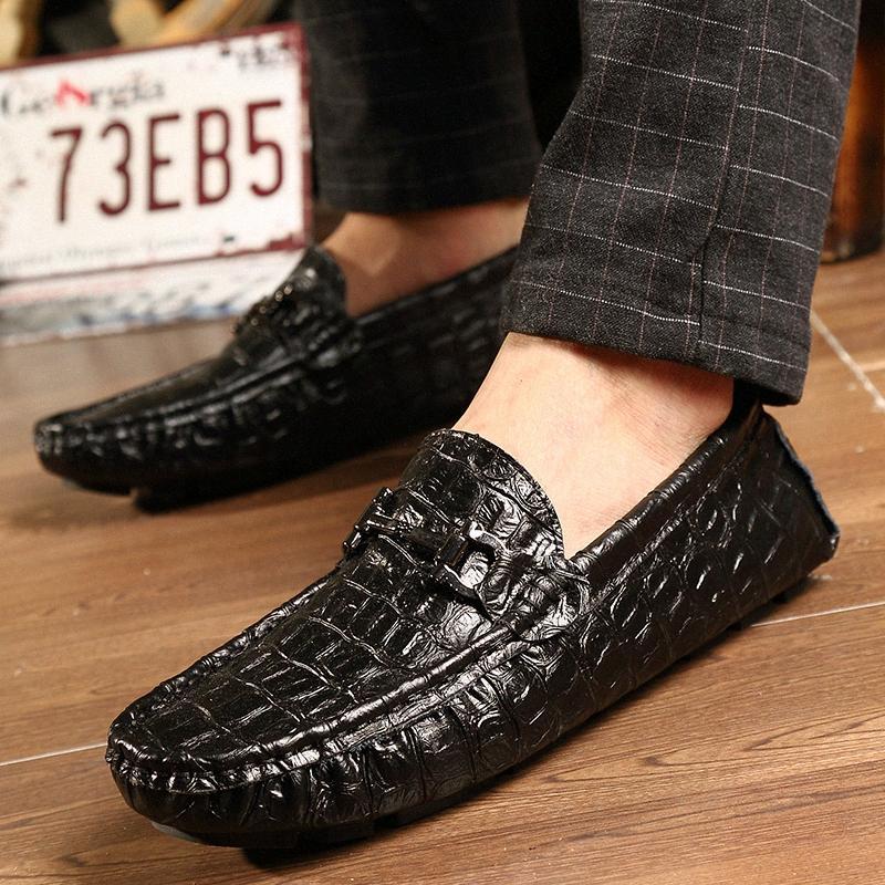 Hombres zapatos casuales vaca entrenadores de cuero genuino resbalones en los mocasines de otoño zapatos zapatos de deporte de primavera hombres mocasines z6nw #