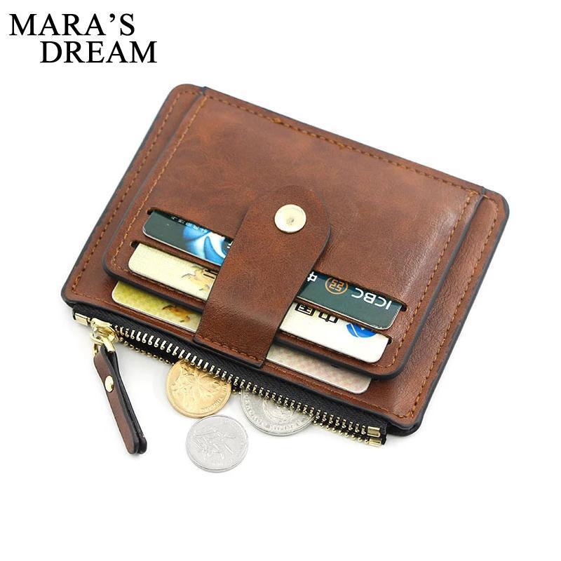 Titular de la tarjeta de identificación de la moda de la moda de la moda Slim Leather Wallet con bolsillo de moneda MAN MONEY BAG FUNDE PARA HOMBRES MINI MINI MUJERES DE MUJERES DE NEGOCIOS