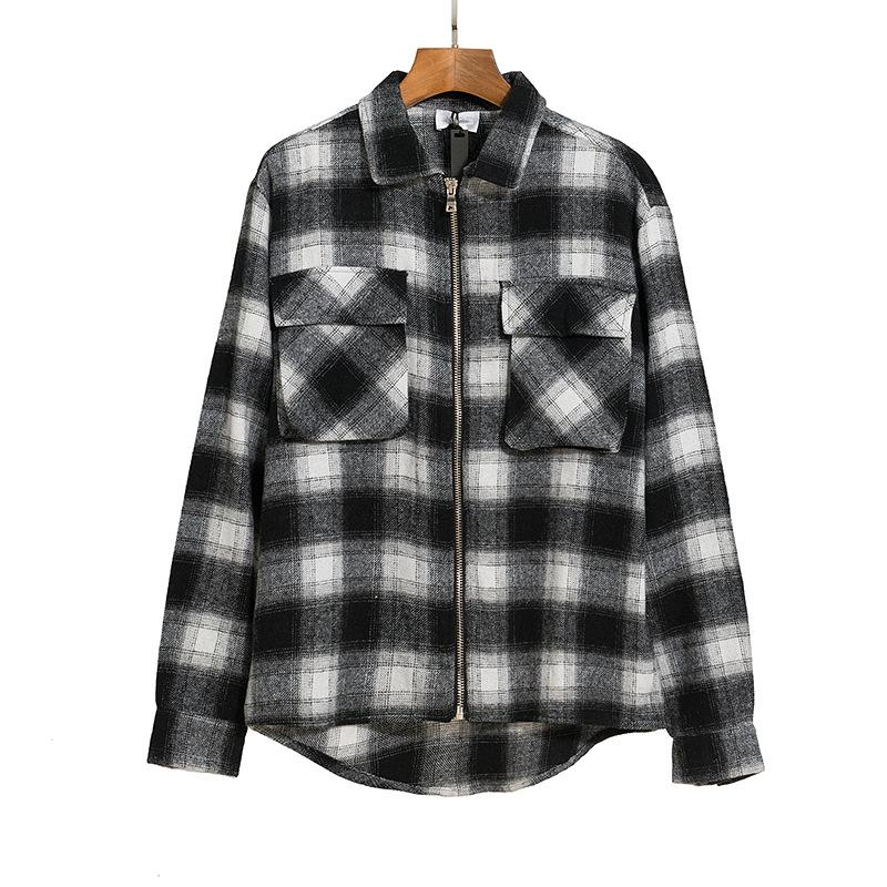Neue Herbst- und Winter-Lässige Hemden kundenspezifisch High-End-Flanell-Stoff-Hemd # 1808