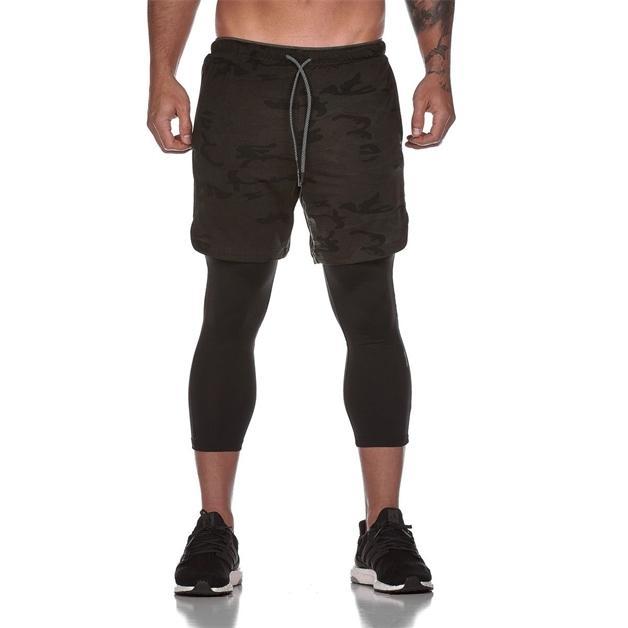 6 colores para hombre pantalones cortos de verano pantalones capris pantalones cortos de doble capa entrenamiento de fitness seco rápido jogging moda pantalones cortos sueltos casuales pantalones
