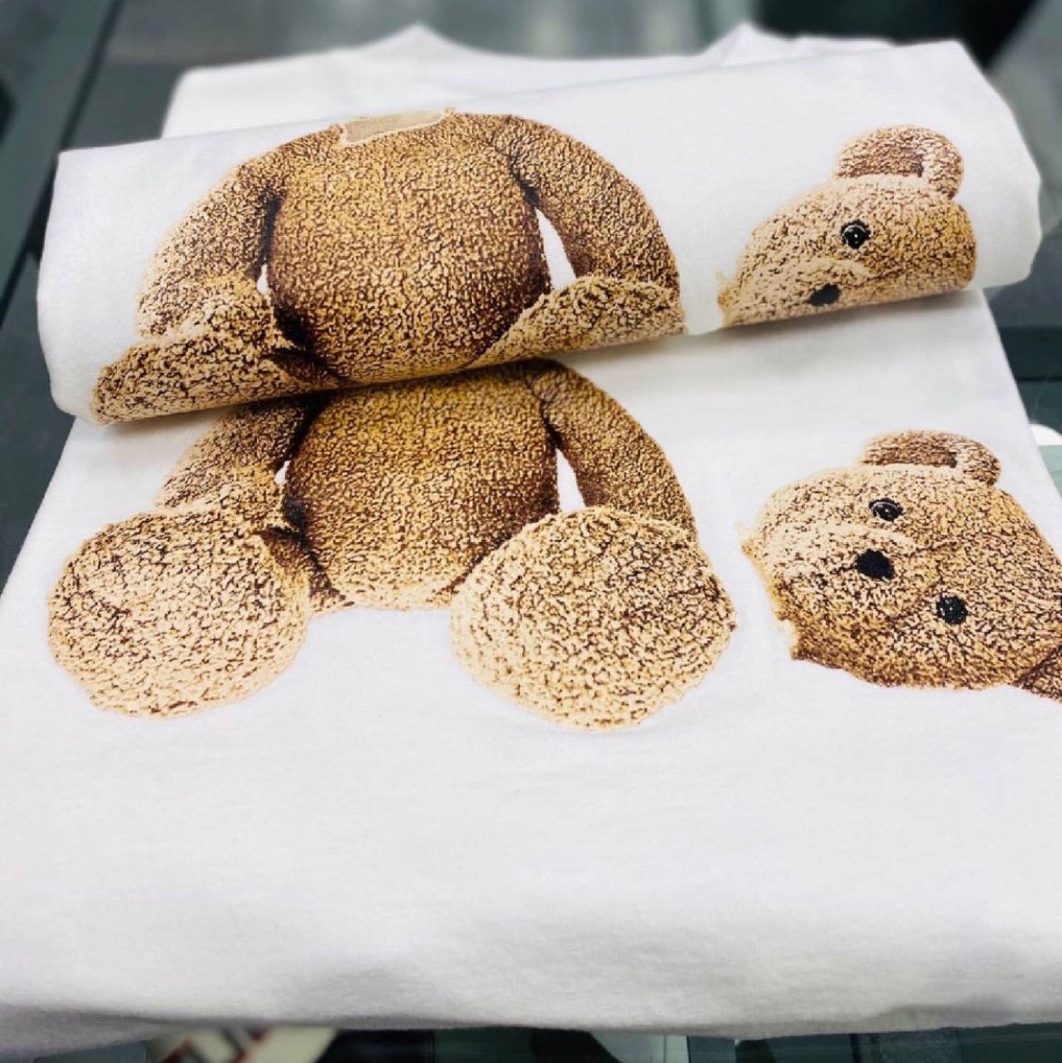 Mode Sommer Männer T-shirts Mans Frauen PA gedruckte Stylist Tee Palms Herren Drucken Kurzarm Kurzarm Kürzere Bären Angels Paare T-Shirts