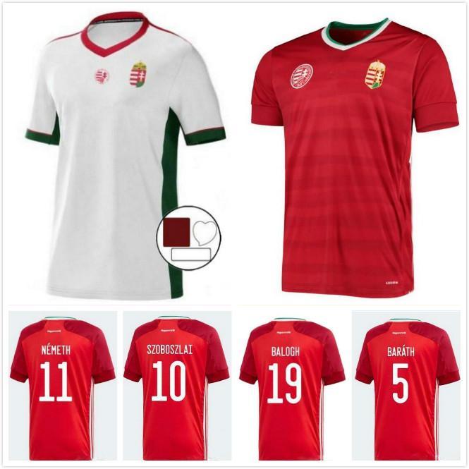 Hongrie Soccer Jersey 2021 2022 Szalai Uniforme Mens 21 22 Priskin Dzsudzsak Szoboszlai Gazdag Ferenczi Bese Beste Botka Home Kits Uniformes Shirts de football