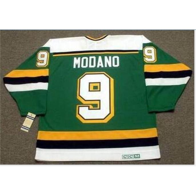 Custom Bay Youth women Vintage #9 MIKE MODANO Minnesota North Stars 1991 CCM Hockey Jersey Size S-5XL or custom any name or number