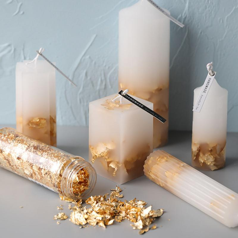 Candle Gold Foil INS For Molds Silicone Mold Soap Mould Using Making Decoration Craft Tools