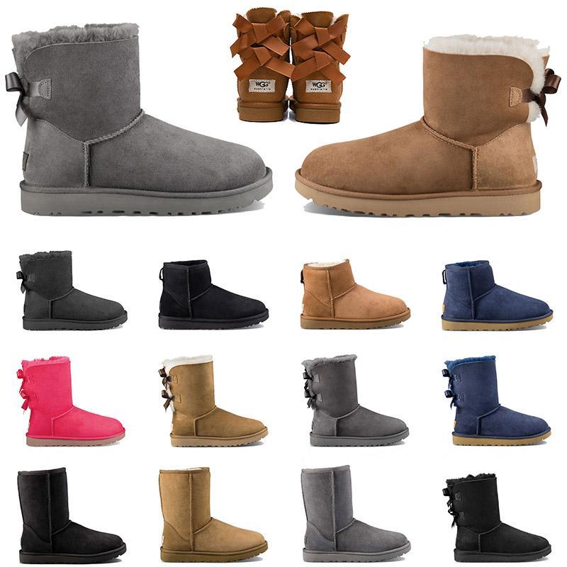 womens snow boots booties 여성 호주 스노우 부츠 패션 겨울 부츠 클래식 미니 발목 짧은 2 활 숙녀 소녀 여성 럭셔리 디자이너 부티 신발 밤나무