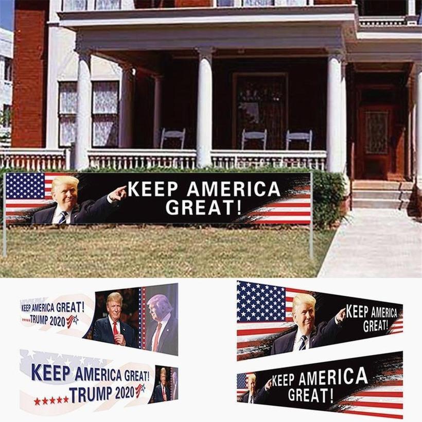 ABD Hisse Senedi Amerika Tutun Büyük Bayrak 296x48 cm Trump 2020 Başkanlık Seçim Banner Trump Kampanya Bayrağı DHL Nakliye GYQ