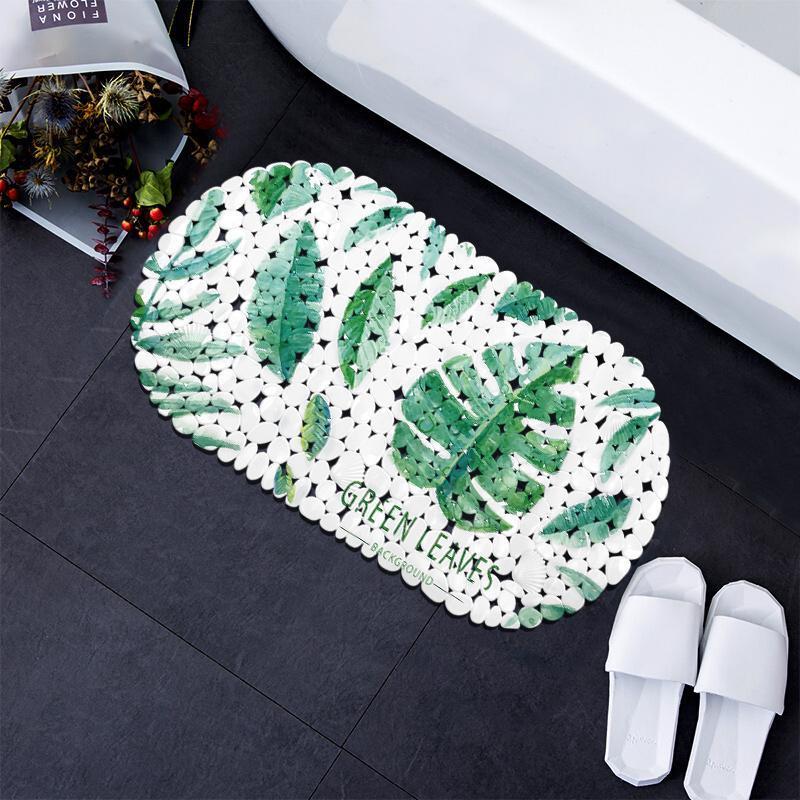 Tapetes de banho Free PVC chuveiro esteira Nonslip assoalho vegetação antiderrapante banheiro
