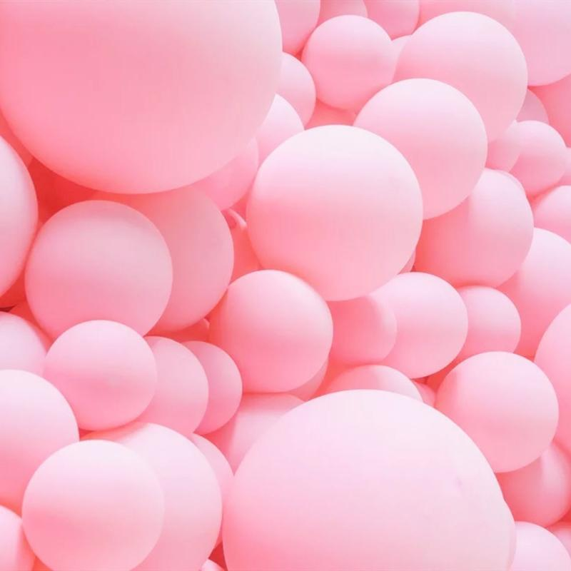 5/10/18/36 pulgadas Macaron Pastel Pink Balloons Redondo Matte Air Globos Baby Shower Boda Cumpleaños Fiesta Decoración