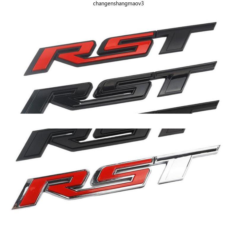 رسائل RST شعار شيفروليه سيلفرادادو تصفيف السيارة Tailgate شارة بيك آب جذع ملصق 1500 2500 3500 4500 5500 2019-2021