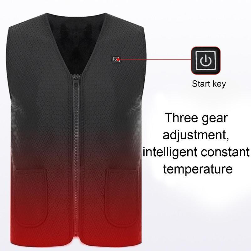 Unisex al aire libre senderismo pesca USB recargable recargable chaleco lavable lavable chaqueta de calefacción chalecos de hombre