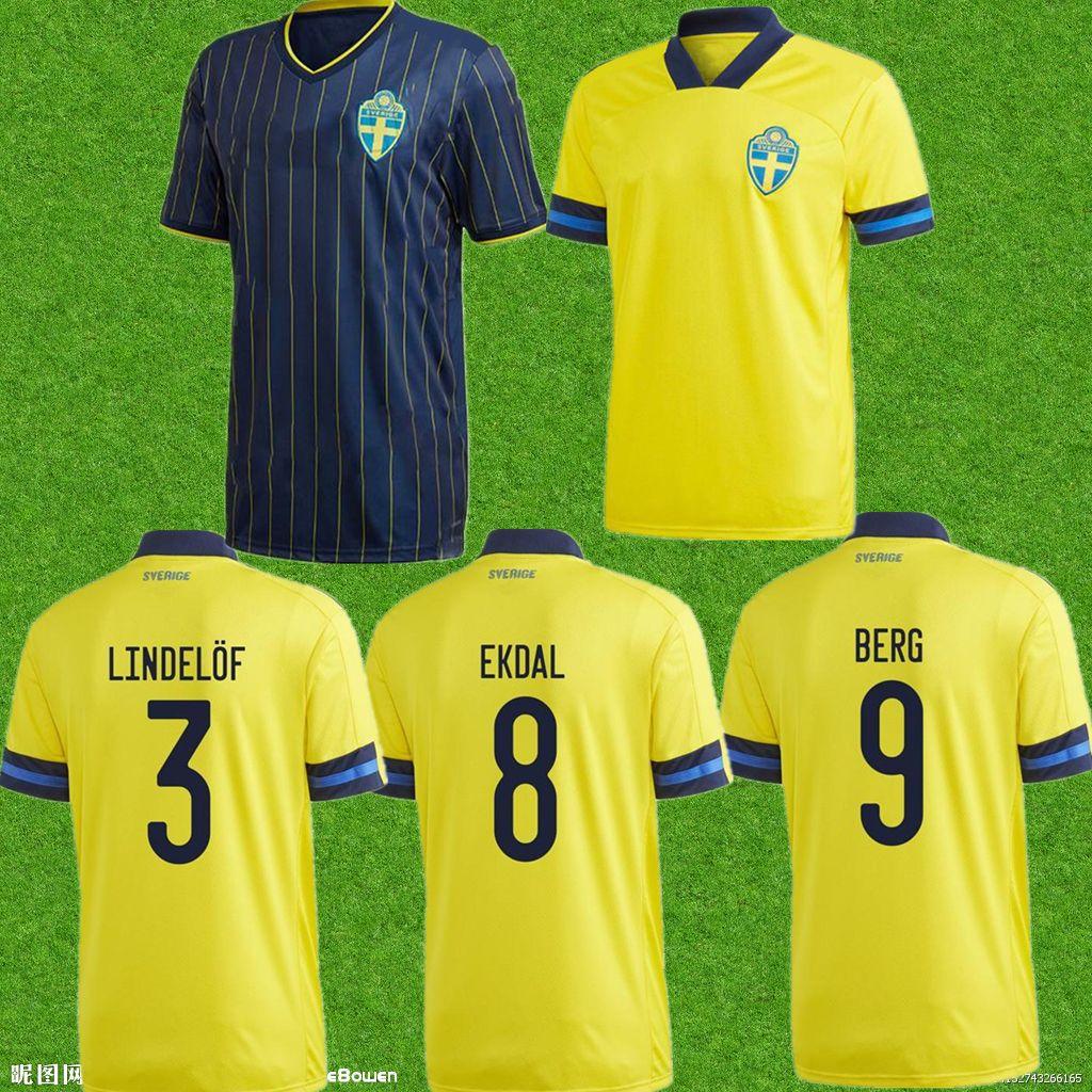 الرجال 2021 Larsson Kallstrom رجل لكرة القدم الفانيلة إبراهيموفيتش Toivonen الصفحة الرئيسية الصفراء بعيدا كرة القدم قمصان السويد المنتخب الوطني ماركوس بيرغ زي