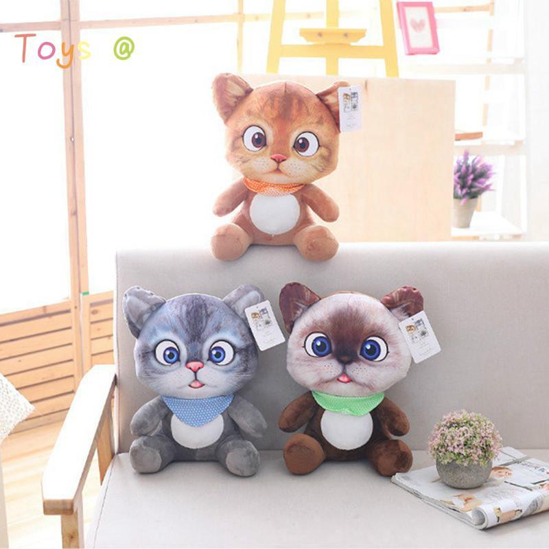 20/30 см Soft 3D моделирования фаршированные кошки плюшевые игрушки двухсторонние сиденья диван подушка подушки плюшевые животные куклы куклы игрушки подарки