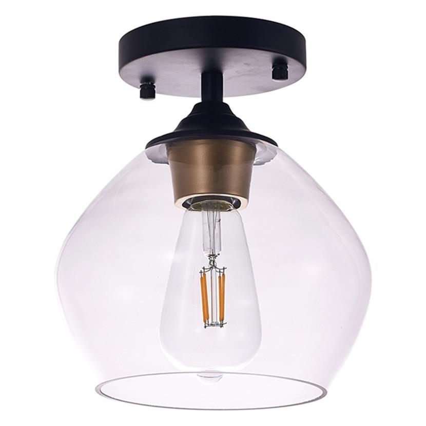 Aydınlatma Armatürleri Modern Tavan Işık Siyah LED Tavan-Lambaları Sanat Dekorasyon D17CM H22CM tarafından Ev Oturma Yatak Odası Yemek Odası Mutfak Için