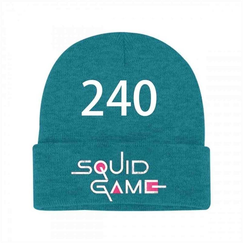 Squid Game Number Printed Solid Colors Children's Winter Warm Hat Outdoor Casual Sports Crochet Hats For Kids Boys Grils Gifts H109Z3U3