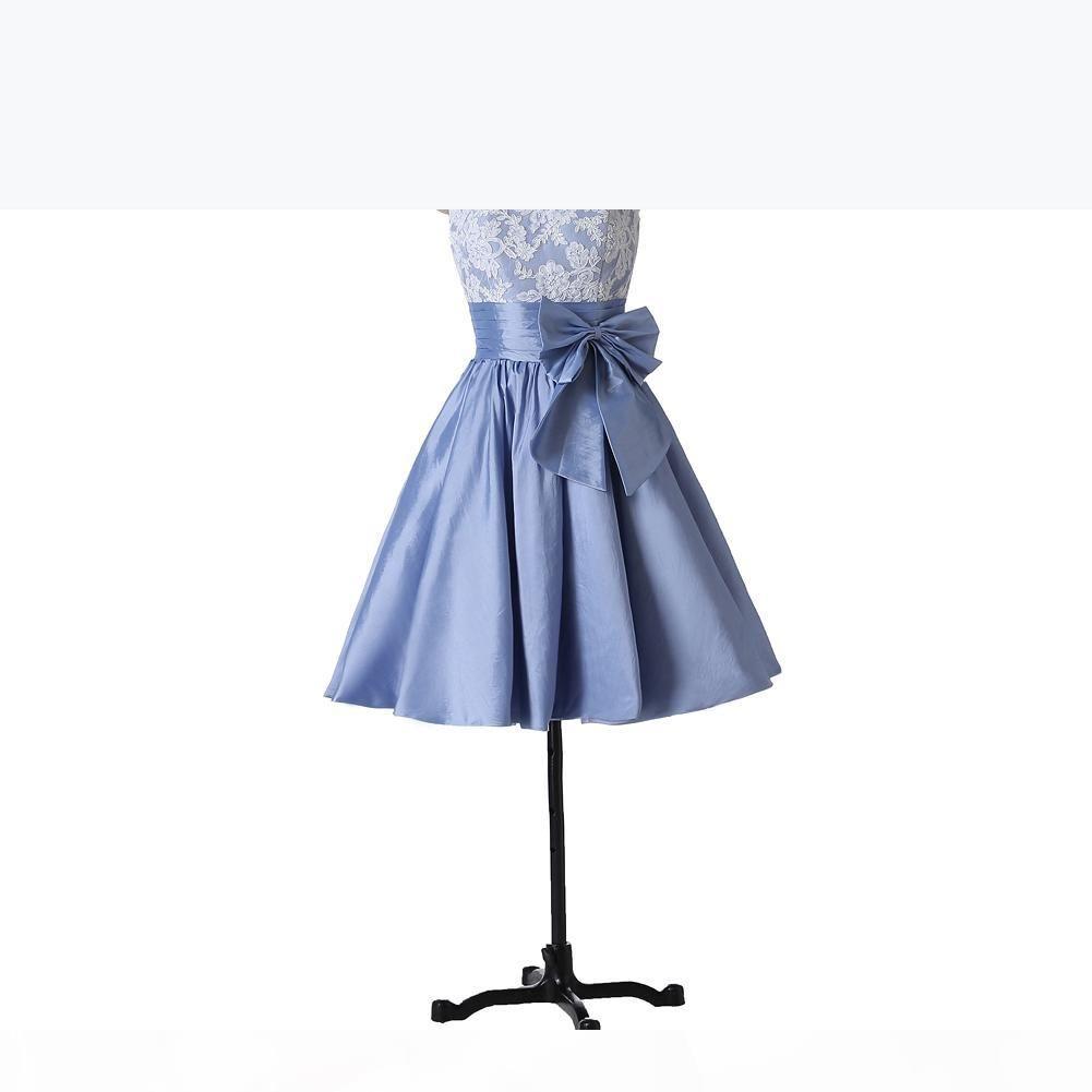 Короткие коктейльные платья Линейная партия платья новая приходящая тафта лук W7100 красочные чистые аппликации Scoop современные