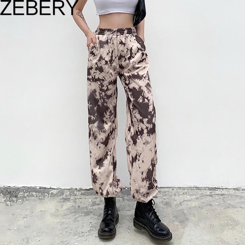 Tie Dye Women Baggy Sweatpants Jogger Female Hip Hop Streetwear Harem Pants Casual Elastic High Waist Running Trousers Women's & Capris