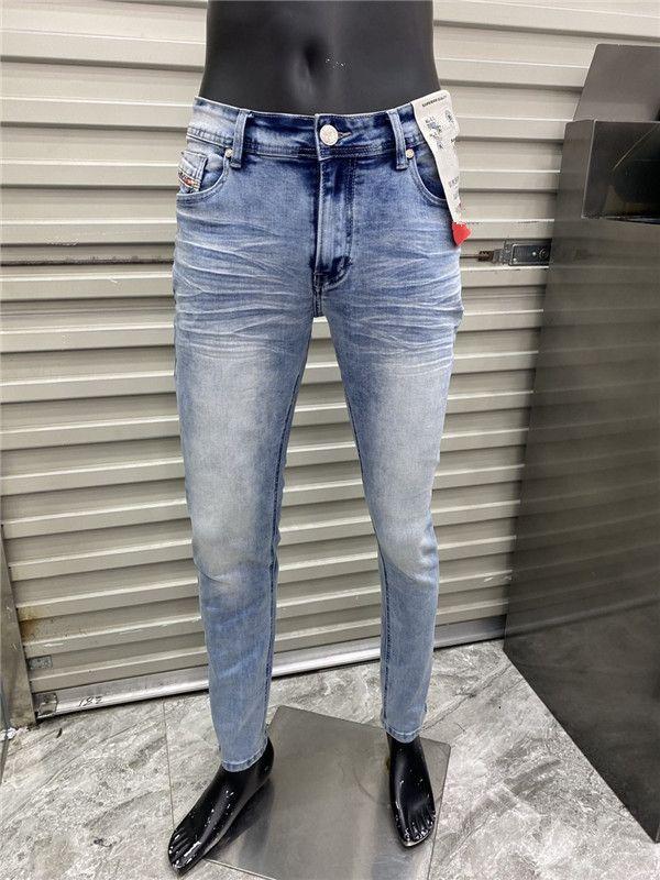 Угмер Французский Сплошной классический стиль роскошные тонкие джинсы подходят для мотоцикла Biker джинсовые мужские моды дизайнер высочайшего качества W29 W40